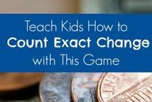 Teaching Kids about Physical Money / A board about teaching kids about physical money.