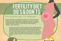 Fertility Foods / Trying to conceive? More and more studies are linking a couple's diet with the state of their fertility health. Take a look at these fertility food tips, menus and recipes that could give you the boost you have been looking for!