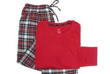 Comfy Pajamas & Slippers / A variety of sleepwear and slippers for men, women, and children.