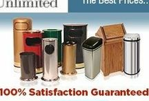 The Best Trash Cans at the Best Prices / Huge variety of small to large trash cans and outdoor ashtrays. Trash containers for kitchen, bathroom, recycling, office, indoor, and outdoor. The Best Trashcans at The Best Prices!