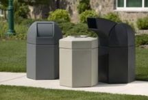 Outdoor Trash Cans / Outdoor trash cans for business, parks, malls, shopping centers, schools, and cities.