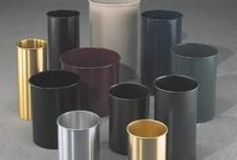 Office Trash Cans / Trash cans and steel wastebaskets for office and school use. Perfect for desk side or under a desk.
