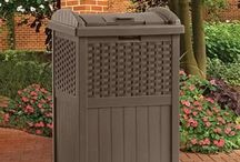 Plastic Trash Cans / Plastic trash containers for indoor, outdoor, and recycling use. Great for cities, towns, and schools.