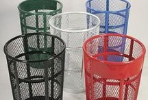 Park Trash Cans / Trash cans for parks and outdoor setting for public use.