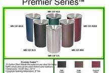 Designer Trash Cans / Designer trash cans for home or office. Designer colors and upscale appeal at affordable prices.