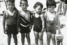 Oude strandfoto's