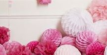 Think Pink - Pink Party Ideas / Throwing a pink party? Here we have it all! Balloons, table wear, wigs and decorations!