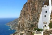 Amorgos Island, Greece / Amorgos is the easternmost island of the Greek Cyclades island group, and the nearest island to the neighboring Dodecanese island group. Along with several neighboring islets, the largest of which is Nikouria Island, it comprises the municipality of Amorgos, which has a land area of 126.346 square kilometres and a population of 1,973.