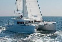 Lagoon 450, Sailing catamaran / Lagoon 450, a catamaran available for bareboat and skippered charters throughout Greece. With 4+2 cabins and 4+1 wc it is perfect for larger groups of 10 guests. Available from Athens, Kos and Lefkas areas.