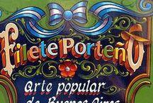 FILETEADO PORTEÑO⊱╮ / El FILETEADO es un estilo artístico de pintar y dibujar típicamente porteño,nació en la ciudad de BUENOS AIRES,ARGENTINA,hacia fines del siglo XIX. / by María Eugenia Calatayud