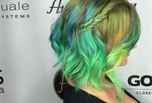 Fashion Colors / All the vibrant hair color. reds, pinks, orange, blue, greens, ect.