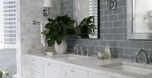 Bathroom Design Ideas / Bathrooms are a momentary retreat and can be beautiful and stylish.