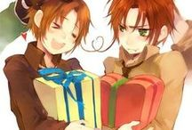 Hetalia: GerIta/Spamano / This board focuses on the Italy brothers, GerIta, and Spamano; Holy Roman Empire included as well.
