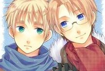 Hetalia: USUK / This board consists of America and England.