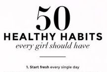 Healthy Lifestyle Tips / Tips and tricks for a healthy, natural lifestyle that will lead to beautiful skin and hair.