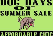 Dog Days of Summer / Just a few of the animals we have in the store, highlighted for our Dog Days of Summer sale and benefit.  What common animal is NOT represented in the store?