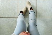 JEANS LEGGINS AND BOOTS / by Ines Belen Vazquez