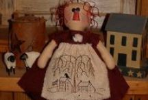 dollies / hand made dolls, raggedy, primities / by Jackie Bollinger