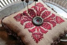Cross stitch - patterns for biscornu, pendibules, strawberries, snowflakes etc / by Antje Ream
