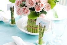 table decorations / All the pretty the things to put on your kitchen table. parties, Christmas, Easter, Thanksgiving, 4th of July, Fall, Spring, Summer, Winter, any special occasions or just to enjoy for everyday