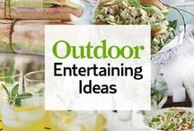Outdoor Entertaining Spaces and Ideas / Inspiring ideas for entertaining outdoors with party ideas, decorations, and themes. Topics will include outdoor kitchens, living spaces, diy projects, bars, bbq islands, grills, and patio furniture.