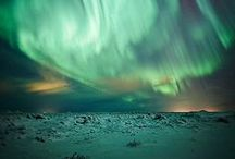 Aurora / Auroras take many different visual forms. The most distinctive and brightest are the curtain-like auroral arcs. They eventually fragment or 'break-up' into separate, and rapidly changing, often rayed features which may fill the whole sky.