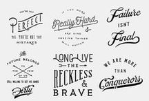 Typography & Logos  / Fonts, reference and inspiration.