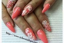 Nails / Nail colour and art inspiration + My nails - always done at Nails for You in Kendalwood Plaza Whitby ON.