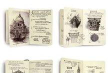 Skizzenbücher, Urban Sketches, Visual Diary, Artist Journal / Skizzenbücher und visuelle Tagebücher - von bekannten und unbekannten Künstlern