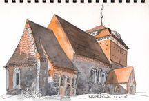 Skizzenbücher - eigene Arbeiten / Urban Sketching, Reiseskizzen, travel journal, Reisetagebuch,visual journal, everyday sketches, visuelles Tagebuch - unterwegs und zu Hause.