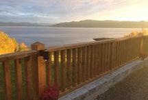 Gjerde på terrasse / Gjerde og belysning på terrasse