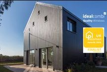 Passive house windows / Find the right windows, doors and sliding doors for your passive house build. Idealcombi triple glazing windows has U-Values as low as 0.75.