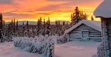 Winter fairytale cabins / The most romantic, magical winter retreats just perfect for holing up with your loved ones and enjoying the snowflakes.