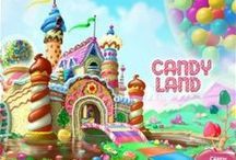 Theme:Candyland / Mood board and reference material for CANDY & SWEETS themed designs.