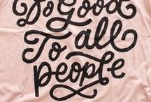 words & typography / Typography and inspirational words