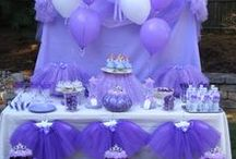 PURPLE PRINCESS Birthday Party Ideas / The ultimate party for Princesses that just can't get enough Purple including Sophia the First Party ideas! #littlepurpleprincessparty #purpleprincesspartyideas #purpleprincessbirthdayparty #sophiathefirstprincessparty