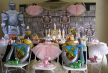 PRINCESS AND KNIGHT BIRTHDAY Party ideas from My Princess Party to Go / Princess and Knight birthday party theme ideas and games. Princess Dresses and Knight in Shining Armor Dress up sets. Sparkling Wands and Silver Swords to spark their imaginations.  #princessandknightparty #princessandknightbirthdayparty #princessandknightthemeparty