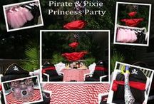 PIRATE AND PIXIE Party Ideas / Pirate and Pixie Princess Birthday Party ideas for girls and boys. Super Fun Princess Birthday when you mix Pirates and Pixes. #piratepixie #jakepirateparty #princesspartyideas