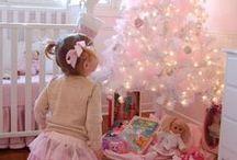 A Princess Christmas / Christmas decor Princess Style. Glitz, Glam, Twinkle Lights and so much Pink!