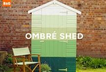 Shedspiration / This little piece of shedspiration will inspire even the least creative of garden owners to down tools, pick up a paintbrush and get creative with colour. / by B&Q