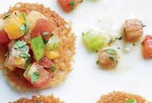 recipes: small bites, appetizers / Sweet and/or savory small bites, small plates, appetizers, amuse-bouche. If you are not following, please limit repins to 10 a day per board.