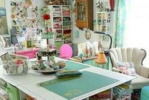 HOME | Sewing Spaces / Let your inspiration create in your very own sewing space!  / by Hancock Fabrics, Crafts, and More