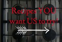 "Recipes YOU want US to try! / Are you finding recipes galore that you would love to try but just don't have the time or energy?  Let us help you out!  We'll give you our honest opinion and maybe even some tips and tricks to make it better.  Want to pin to this board? Go to our ""Recipes YOU want US to try"" pin, leave us a comment and we'll get you added.    Why slave in a kitchen on a dish you're just not sure about??   We can't wait to help you out and see what you send our way!"
