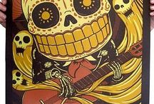 Dia de los muertos/Sugar skulls/alebrijes <3