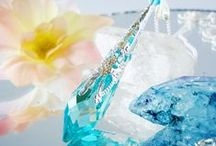 Crystal Pendulums / Swarovski Single Point Crystal Pendulums from www.crystalbluedesigns.artfire.com