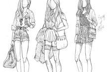 My fashion inspirations / Kaikkea mistä saan ideoita piirtämisieni vaatteisiin ja muutenkin hienoja