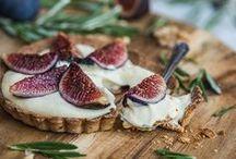Hum...La Figue ! / Voici notre panneau d'inspiration autour de la figue. De l'entrée au dessert, en version curée comme en version salée... Vive la figue pour le dîner !