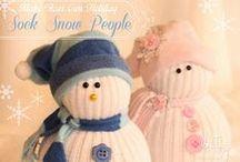 Snowmen from socks.. beauty! :)