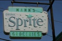 Vintage Signs / The cool looking signs that made at one time business stand out.