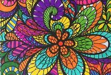 ColorIt Flower Submissions / Enjoy our beautiful collection of flower coloring pages from our Colorful Flowers Volume 1 Adult Coloring Book, submitted by none other than our awesome ColorIt fans!